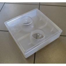 Кормушка потолочная 2л квадратная 2 стакана