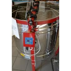 Медогонка 4-х рамочная автоматическая, нержавейка (ротор - нержавейка, с крышкой) под рамку ДАДАН